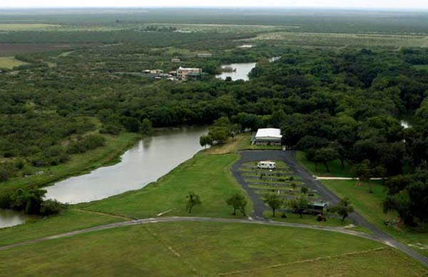 An aerial view of our site.